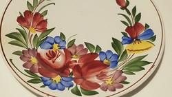 Városlődi kézi festett falitányér