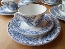 Francia porcelán reggeliző szett 3 db-os (újabb)