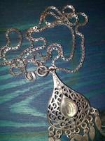 Csodálatos antik ezüst lánc medállal