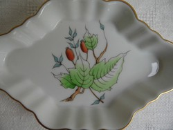 Herendi porcelán tálka hecsedli csipkebogyó mintával hibátlan állapotban
