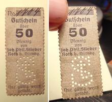 Joh. Phil. Stieber 50 pfennig 1916 érdekes notgeld szükségpénz - 800 Ft