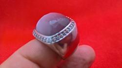 Ti Sento Milánó ametiszt és cirkónia köves ezüst gyűrű.
