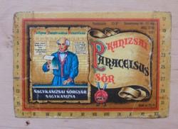 Paracelsus söröscimke sörcimke barnasörös antik '70-es évekból Nagykanizsai Sörgyár
