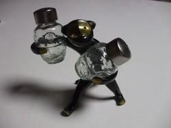 Bronz art deco fűszertartó