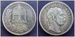 Ferenc József ezüst 1 korona 1915 KB