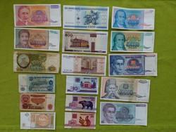 17 db külföldi bankjegy