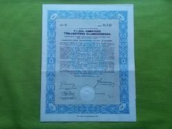 Államadóssági kötvény 100 pengőről 1942