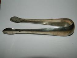 Jelzett antik ezüst cukor csipesz.33,8 gr.