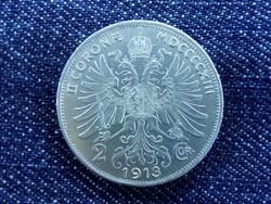Extra szép Ferenc József ezüst 2 Corona 1913