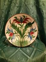 Antik Telkibánya virágos falitányér
