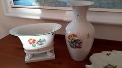 Herendi váza virág mintákkal