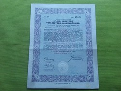 Államadóssági kötvény 50 pengőről 1942