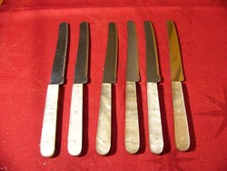 Solingen Peri Musol gyöngyháznyelű kés 6db