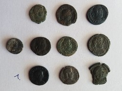 római kis bronz lot 10db