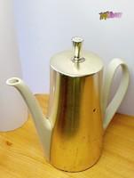 Antik artdeco kávés, teás, italos termosz porcelán betéttel Németországból.