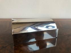 Art Deco Olasz Ezüst Asztali Névjegykártya vagy Cigarettatartó