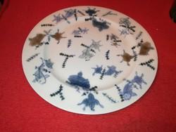 Zsolnay családi.pecsétes, halas tányér 1880