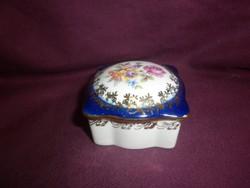 régi német kisméretű porcelán bonbonier doboz
