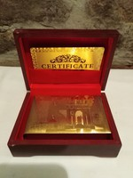 24kt Aranyozott póker kártyacsomag díszdobozban