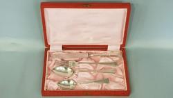 Gyönyörű szép ezüst keresztelő készlet