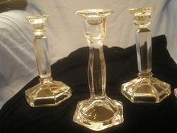 N 15 Barokk üveg gyertyatartók ritkaság  gyűjtemény eladó