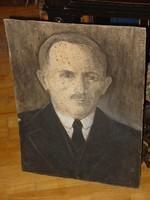 KOHÁN GYÖRGY( GYULAVÁRI 1910-GYULA 1966) : FÉRFI PORTRÉ  VEGYES TECHNIKA