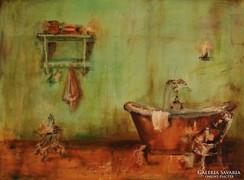 Menta patina c. Kortárs festmény