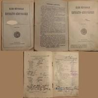 Elemi Népiskolai Értesítő 1928-tól ( nevet én takartam ki) 800.-Ft