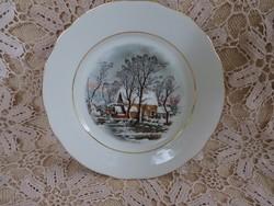 Crown Bavaria tányér téli jelenettel