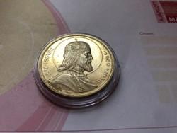 """Szt István ezüst 5 pengő,gyönyörű """"karcmentes selyemfényes""""kapszulában"""