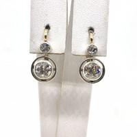951. Antik Buton Fülbevaló Gyémántokkal c 1.20ct