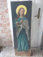 Templomi (Egyházi )Szentfestmény olaj-vászon nagyméret 130X40cm!ERDŐDI A.