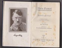 Mein Kampf - Eredeti 1940. Müncheni kiadás I - II. rész - Adolf Hitler aláírásával!!!