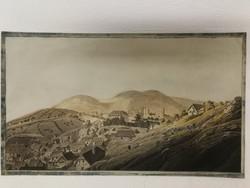 Akvarell tájkép az 1860-as évekből