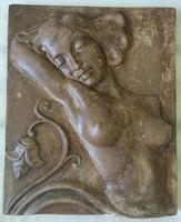 Ritka Geörcs art-deco kerámia falikép eladó.