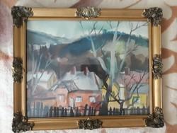 Cs.Pataj Mihály akvarell eladó