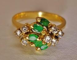 Nagyon szép antik smaragd aranygyűrű