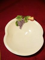 A01 Olasz szecessziós gyümölcs tál, kínáló, asztalközép