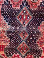Kézicsomózású Iráni Afshar Perzsaszőnyeg Madarakkal 163x228