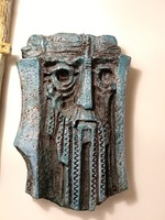 Garányiné Staindl Katalin fali kerámia relief