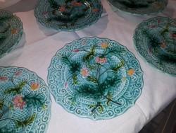 6db Majolika süteményes tányér