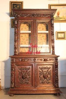 Gyönyörű antik,dúsan faragott, reneszánsz stílusú tálalószekrény!