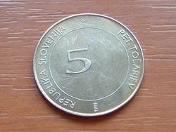 SZLOVÉNIA 5 TOLARJEV 1945-1995 1995 FAO EMLÉK #