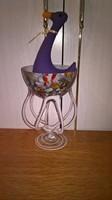 18573G Gyönyörű színpompás művészi üveg váza