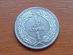 LIBANON 1 LIVRE 1975 #