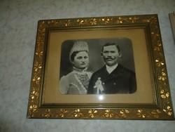 Esküvői fotó az 1880-es évekből