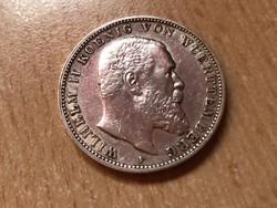 """1911""""D"""" ezüst bajor 3 márka jubileumi ,Ritka gyönyörű darab 16,6 gramm"""