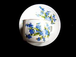 Zsolnay nefelejcses teás csésze