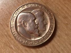 1911 Württemberg ezüst német 3 márka Ritka!gyönyörű darab
