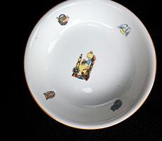 Zsolnay Csipkerózsikás baba főzelékes tányér